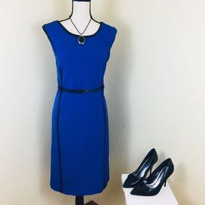 EUC STUDIO I Blue/Black Dress. Sz 16.